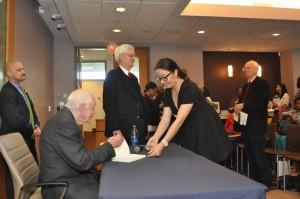 Автограф бывшего президента США Джимми Картера, Атланта, штат Джорджия.